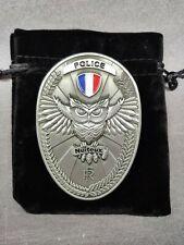 Plaque Police nationale nuiteux plaque de ceinture, neuf, Police medaille