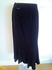 GALS PETITE MED SKIRT LONG BLACK VELVET NWT $50  INTERNATIONAL'S  AWESOME BEST