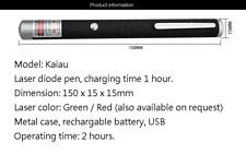 Teacher Presenter Pen Green Laser Pen Pointer Usb Rechargeable 150x15x15mm Pen
