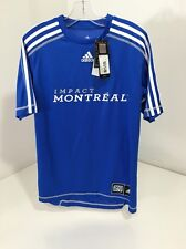 Montreal Impact adidas Climalite Blue MLS Reserve Jersey Size Large NWT