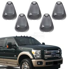 5 Smoke Cab Roof Running Marker Light Cover Lens For Ford F-250 F-350 Super Duty
