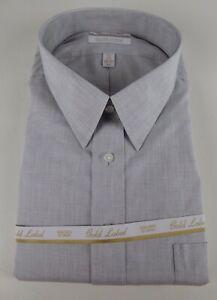 Roundtree & Yorke Gold Label Non Iron EZ Wash Poplin Dress Shirt $75 NWT 3 Color
