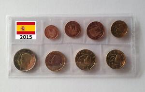 EURO 2015 SPAGNA ESPAÑA SPANIEN SPAIN ESPAGNE - SET 8 MONETE FDC UNC