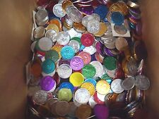 15 pounds (about 1500) Multi Color Aluminum Doubloons / Tokens