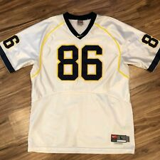 290ce2fded0c Nike Team Authentic L White Michigan Wolverines Football Jersey +2 Length   86