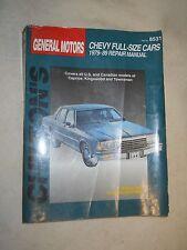 Chilton  8531 General Motors Chevy Full-Size Cars 1979-1989 Repair Manual