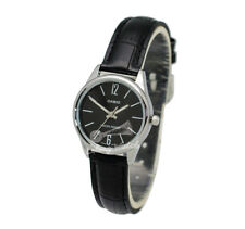 -Casio LTPV005L-1B Ladies' Leather Fashion Watch Brand New & 100% Authentic