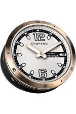 Brand New Authentic Chopard Monaco Historique Table Clock Rose Gold Finish