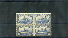 SAMOA Sc 67(MI 17)**VF NH BLOCK OF FOUR 1901 2MK DARK BLUE $180