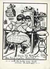 KLARA die KÖCHIN - Heinrich ZILLE - Berlin  - Strichätzung 1927 HEYDER Verlag