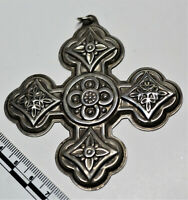 REED & BARTON 1971 CHRISTMAS CROSS STERLING SILVER LIMITED EDITION ORNAMENT