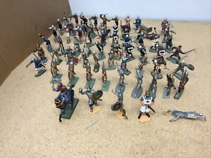 Medieval Knights Stsrlux Storme Marx Archer Crusaders Warriors Chargin 1/32 54mm