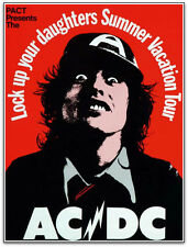 AC/DC Lock Your Daughters 1975 Tour Poster Design Graeme Webber Signed by Artist