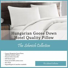NEW Luxury 100% Hungarian Goose Down Pillows Premium Hotel Quality Single Pair