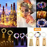 LED Starry Fairy String Light Wine Bottle Copper Cork Wire Lamp Party Xmas Decor