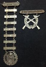 RARE PRE WWII USMC US MARINE CORPS MARINES EXPERT RIFLEMAN AWARDS OLD LATCHES