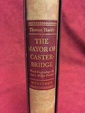 The Mayor Of Casterbridge by Thomas Hardy, Heritage Press HC, Slipcase & Insert