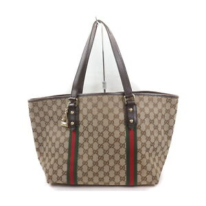 Gucci Tote Bag  Light Brown Canvas 2202566