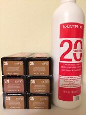SIX MATRIX COLOR SYNC 3N DARKEST BROWN NEUTRAL + 20V DEVELOPER 16oz