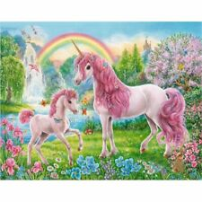 Pink Unicorn Oil Painting By Numbers Acrylic Canvas Wall Art Wedding Home Decors
