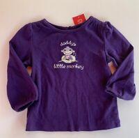 Gymboree Girls Shirt Size 18-24 Months Dance Team Daddys Little Monkey  Purple