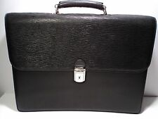 Bosca 802-86 Black Nappa Leather Laptop Flap Over Briefcase