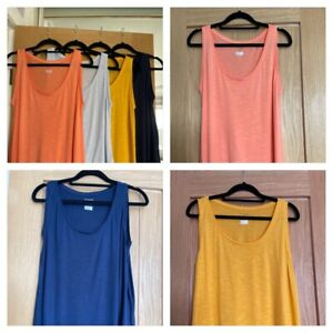 Ladies MARKS AND SPENCER relaxed fit vest top - sizes 6-24 - various colours