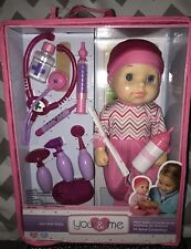 """BRAND NEW TOYS R US YOU & ME GET WELL BABY DOLL 14"""" - GREAT Birthday Gift!"""