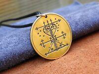 Voodoo talisman ( Hoodoo ) Veve Maman Brigitte amulet, occult jewelry talisman