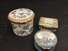 "Lot 3 Halcyon Days Enamels Mother Musical Music Box, Irving Berlin's ""Always�"