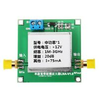 1-3000MHz 2.4GHz 20dB Low Noise LNA RF Broadband Amplifier Module HF VHF / UHF