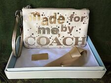 COACH 43776 POPPY MADE FOR ME BY COACH WRISTLET SILVER & GOLD MULTI WITH ORG BOX