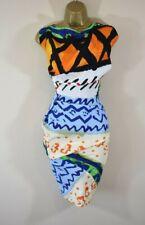 £420 NEW VIVIENNE WESTWOOD FOND 38 Paradise Print Crepe Deconstructed Dress
