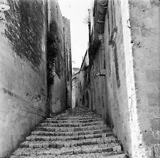 MATERA c.1960 - Ruelle Escaliers  Italie - Négatif 6 x 6 - ITAL 279