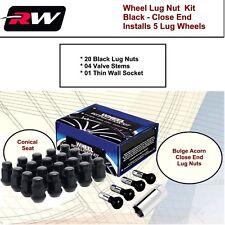 (1) Wheel Installation Kit M14x1.5 Black Acorn fit Chevy Camaro 2010-2019