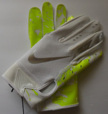 Nike Youth Vapor Jet 5.0 Football Gloves Color White/Volt/Silver Size L