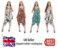 Womens Ladies Lagenlook Hareem Printed Summer Cami Playsuit Romper Jumpsuit New