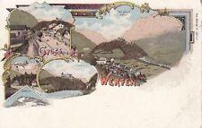72210/54 - Litho Gruß aus Werfen im Pongau Bezirk Salzburger Land um 1900