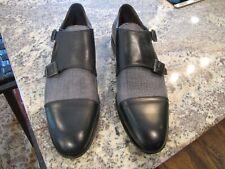 Bacco Bucci Double Monk Strap Loafer. Black. Brand New in Box...$275