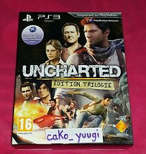 COFFRET UNCHARTED EDITION TRILOGIE PS3 NEUF SCELLE VERSION 100% FRANCAISE