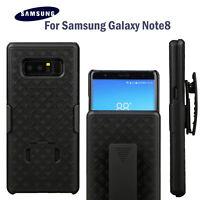 For Samsung Galaxy Note 8 - Black Holster Swivel Belt Clip Hard Slim Case Cover