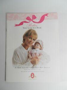 """Lee Middleton Originals 1999 """"Babies That Love You Back"""" Porcelain Doll Catalog"""
