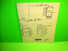 Stern TURTLE Original Video Arcade Game Diagram Schematic KT-4108-1 (2-sided)