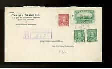 1935 Canada Cartier Stamp Company Registered Cover to USA