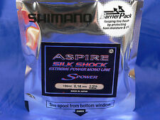Shimano aspire s power silk shock extreme 0,20 150 mt pesca spinning, casting