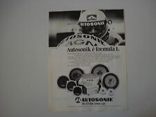 advertising Pubblicità 1982 AUTOSONIK e MAURO BALDI