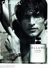 PUBLICITE ADVERTISING 126  2005  parfum homme  Allure  Sport par Chanel