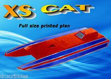"Model Boat full Size Printed Plan 05 Electric radio control 25"" Racing Boat PLAN"