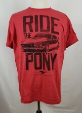 Ford Mustang Ride the Pony Red Men's Shirt XL