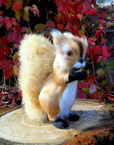 1-niedliches Eichhörnchen-groß-12 cm -Handarbeit-Fell-Tierminiatur-Rentier-Reh